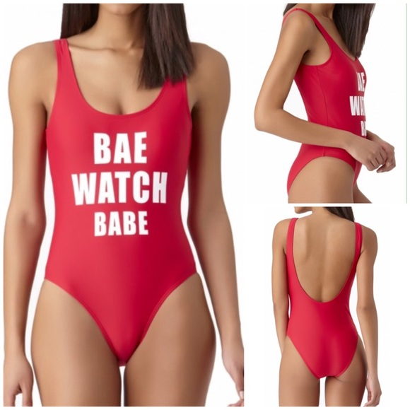 adb431c5709 California Waves Swim | Bae Watch Babe Slogan One Piece Suit | Poshmark